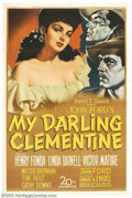 """Movie Posters:Western, My Darling Clementine (20th Century Fox, 1946). One Sheet (27"""" X41""""). John Ford tackled one of the West's greatest legends ..."""