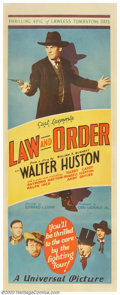"Movie Posters:Western, Law and Order (Universal, 1932). Insert (14"" X 36""). Without adoubt, this was one of the best Westerns of the early 1930s! ..."