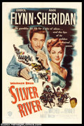 "Movie Posters:Western, Silver River (Warner Brothers, 1948). One Sheet (27"" X 41""). RaoulWalsh directs Errol Flynn and Ann Sheridan in this wester..."