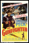 "Movie Posters:Western, Gunfighter, The (20th Century Fox, 1950). One Sheet (27"" X 41"").The late Gregory Peck gives one of his greatest performance..."