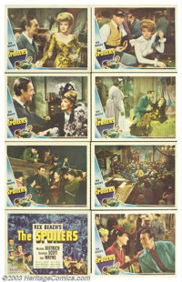 """The Spoilers (Universal, 1942). Lobby Card Set (11"""" X 14""""). This story based on Rex Beach's classic novel has..."""