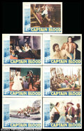 "Movie Posters:Adventure, Captain Blood (Warner Brothers, 1935). (7) Lobby Cards (11"" X 14"").This was the handsome Errol Flynn's break through role a... (Total:7 Movie Posters Item)"
