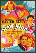 """Movie Posters:Adventure, Slave Ship (20th Century Fox, 1937). (40"""" X 60"""") Silk Screen.Adapted from a story by William Faulkner, this adventure drama..."""