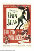 """Movie Posters:Swashbuckler, The Adventures of Don Juan (Warner Brothers, 1948). One Sheet (27""""X 41"""") and Lobby Card Set (11"""" X 14""""). Errol Flynn gives ...(Total: 9 items Item)"""