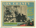 """Movie Posters:Crime, While the City Sleeps (MGM, 1928). Lobby Card (11"""" X 14""""). When hewasn't laboring under heavy makeup, Lon Chaney was usuall..."""
