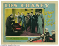 "While the City Sleeps (MGM, 1928). Lobby Card (11"" X 14""). Here's another great scene card from the set. This..."