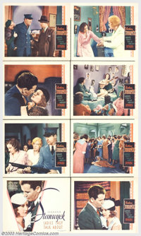 """Ladies They Talk About (Warner Brothers, 1933). (8) Lobby Card Set (11"""" X 14""""). This little production fit rig..."""