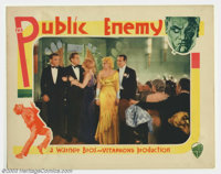 """Public Enemy, The (Warner Brothers, 1931). Lobby Card (11"""" X 14""""). James Cagney was a bit player until he was..."""