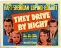 "Movie Posters:Drama, They Drive By Night (Warner Brothers, 1940). (1) Title Card and (1) Scene Card (11"" X 14""). Humphrey Bogart was still playin... (Total: 2 Movie Posters Item)"