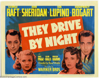 "They Drive By Night (Warner Brothers, 1940). (1) Title Card and (1) Scene Card (11"" X 14""). Humphrey Bogart wa..."