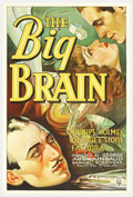 "Movie Posters:Comedy, The Big Brain (RKO, 1933). One Sheet (27"" X 41""). George Stonestars as a fixer, gambler and racketeer who connives his way ..."