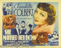 """Movie Posters:Comedy, Claudette Colbert Lot (Columbia-United Artists, 1937). (2) HalfSheets (22 X 28""""). Two outstanding posters featuring Claudet..."""