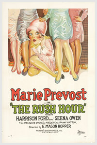 "The Rush Hour (Pathe', 1927). One Sheet (27"" X 41""). Marie Prevost stars in a commuter comedy about a woman wh..."