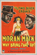 "Movie Posters:Comedy, Why Bring That Up? (Paramount, 1929). One Sheet (27"" X 41"").Charles Moran and George Mack, two white minstrel comedians als..."