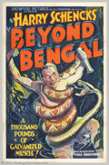 "Movie Posters:Adventure, Beyond Bengal (Showmen's Pictures, 1934). One Sheet (27"" X 41"").Filmed in the remote jungles of the Malayan Peninsula under..."
