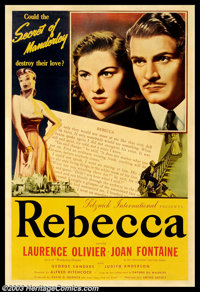 """Rebecca (United Artists, 1940). (40"""" X 60"""") Photo Gelatin. This is undoubtedly the only known copy of this gor..."""