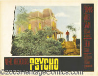 "Psycho (Paramount, 1960). Lobby Card (11"" X 14""). This is one of the true iconic images from horror films as A..."