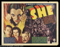 """Movie Posters:Fantasy, She (RKO, 1935). Half Sheet (22"""" X 28""""). Filmed four times previously in the silent era, Randolph Scott, on loan from Paramo..."""
