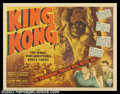 """Movie Posters:Horror, King Kong (RKO, R-1942). Half Sheet (22"""" X 28""""). King Kong wreaks havoc on the city of New York as he looks for his lady lov..."""