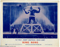 "Movie Posters:Horror, King Kong (RKO, R-1959). (3) Lobby Cards (11"" X 14""). Here's three great scene cards from the 1959 re-issue of ""King Kong"". ..."
