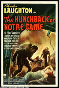 """Movie Posters:Horror, Hunchback of Notre Dame (RKO, 1939). One Sheet (27"""" X 41""""). This was the second version of Victor Hugo's classic novel that ..."""