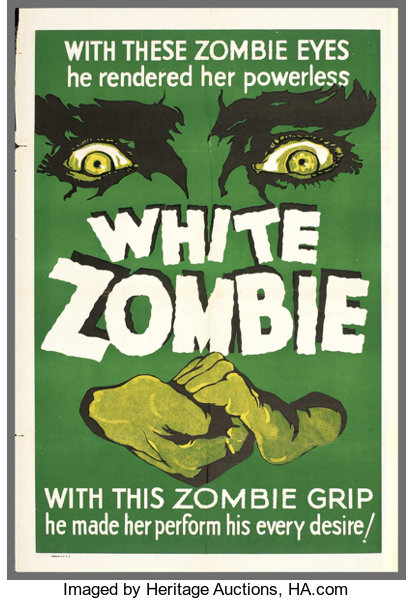 White Zombie (United Artists, R-1938)  One Sheet (27