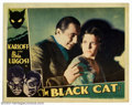 "Movie Posters:Horror, Black Cat, The (Universal, 1934). Lobby Card (11"" X 14""). Incest, murder, torture, devil worship and perverse psychological ..."