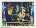 "Movie Posters:Horror, The Bride of Frankenstein (Universal, 1935). Lobby Card (11"" X 14""). Universal followed up their biggest hit of the past sev..."
