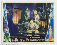 "The Bride of Frankenstein (Universal, 1935). Lobby Card (11"" X 14""). Universal followed up their biggest hit o..."