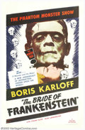 "Movie Posters:Horror, The Bride of Frankenstein (Realart, R-1953). One Sheet (27"" X 41""). James Whale created his lasting masterpiece with this se..."