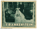 "Movie Posters:Horror, Frankenstein (Universal, R-1938). Lobby Card (11"" X 14""). Boris Karloff stars as Mary Shelley's immortal monster in this leg..."