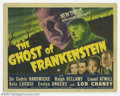 """Movie Posters:Horror, Ghost of Frankenstein (Universal, 1942). Title Card (11"""" X 14""""). Lon Chaney donned Jack Pierce's makeup to become The Monste..."""