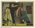 """Movie Posters:Horror, Ghost of Frankenstein (Universal, 1942). Lobby Card (11"""" X 14""""). Yet another great scene card featuring Bela Lugosi and Lon ..."""