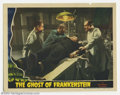 "Ghost of Frankenstein (Universal, 1942). Lobby Card (11"" X 14""). This classic horror lobby card has the scene..."