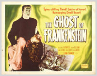 """Ghost of Frankenstein (Realart, R-1950). Half Sheet (22"""" X 28""""). Bela Lugosi reprises his role of Ygor as he r..."""