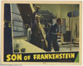 "Movie Posters:Horror, Son of Frankenstein (Universal, 1939). Lobby Card (11"" X 14""). Although this card does not picture the immortal monster, it ..."