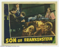 "Movie Posters:Horror, Son of Frankenstein (Universal, 1939). Lobby Card (11"" X 14""). As usual, Universal would always include one montage card in ..."