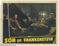 """Movie Posters:Horror, Son of Frankenstein (Universal, 1939). Lobby Card (11"""" X 14""""). Okay, it's just our opinion, but does it actually get any bet..."""