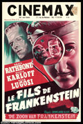 """Movie Posters:Horror, Son of Frankenstein (Universal, R-1947?). Belgian (14"""" X 22""""). Here's a colorful Belgian poster for this Universal horror ti..."""