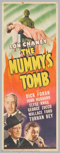 """Movie Posters:Horror, The Mummy's Tomb (Universal, 1942). Insert (14"""" X 36""""). This installment in the Mummy series found Kharis being shipped to A..."""