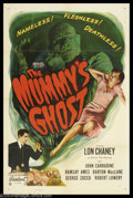 """Movie Posters:Horror, Mummy's Ghost, The (Realart, R-1953). One Sheet (27"""" X 41""""). Another great format for this title is this superb One Sheet. T..."""