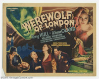 "WereWolf of London (Universal, 1935). Title Card (11"" X 14""). Universal produced their first film on lycanthro..."