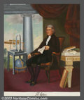 Original Illustration Art:Mainstream Illustration, E. Bianchini - Original Calendar Art (c.1950).. Thomas Jefferson,part of a calendar series of famous historical figures.. O...