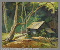 Original Illustration Art:Mainstream Illustration, Pruett A. Carter (1891-1955) Original Illustration.. Possiblytitled: Cabin in the Woods.. Oil on canvas, approximately...