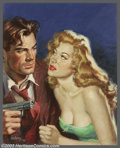 Original Illustration Art:Pulp, Pulp-like, Digests and Paperback Art, Sam Cherry - Original Paperback Cover Art (1952).. Popular Library#456 - What Price Murder by Cleve F. Adams. Caption: ... (Total: 2items Item)
