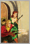 Original Illustration Art:Pulp, Pulp-like, Digests and Paperback Art, Sam Cherry - Attributed - Original Paperback Cover Art (1951)..Popular Library #337 - Ace In The Hole by Gregory Jackso... (Total:2 items Item)