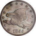Patterns, 1855 P1C Flying Eagle Cent, Judd-167 Original, Pollock-193, R.5,PR64 Brown PCGS....