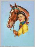 Original Illustration Art:Pin-up and Glamour Art, Jules Erbit - Original Pin-up / Glamour Art (c.1940).. Published bythe Joseph C. Hoover and Sons Calendar Company, Philadel... (Total:3 items Item)