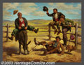 Original Illustration Art:Mainstream Illustration, Art Frahm (1907-1981) Original Calendar Art (1950-1960).. Ride'em Cowboy, part of Frahm's popular Traveling Hobo se...(Total: 2 items Item)