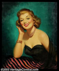 Original Illustration Art:Pin-up and Glamour Art, Art Frahm (1907-1981) Original Pin-up / Glamour Art (c.1952)..Titled: Girl Of My Dreams.. Oil on canvas, approximately ...(Total: 2 items Item)